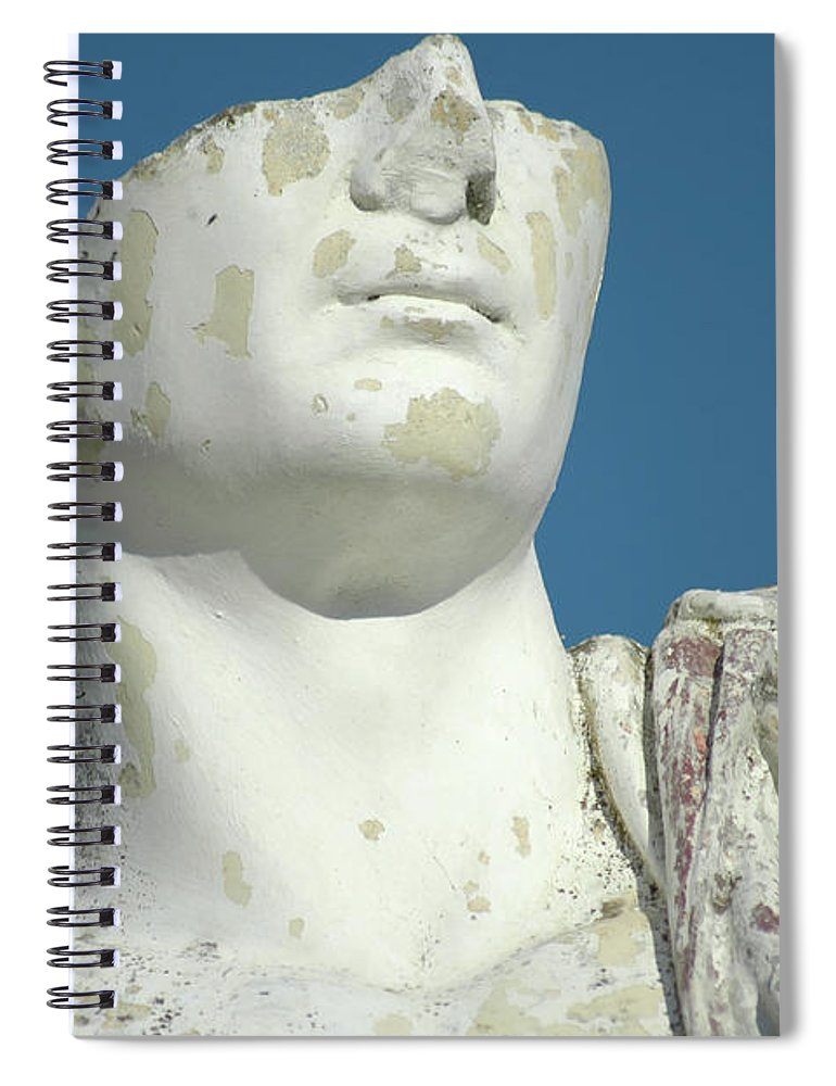 Europe Spiral Notebook featuring the photograph Emperor's Bust by Mary Lane