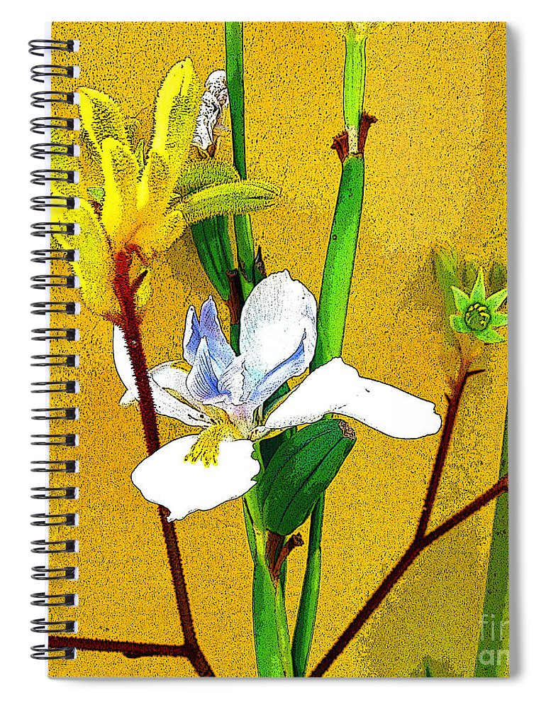 Flowers Spiral Notebook featuring the photograph Exotic Flowers by Jerome Stumphauzer