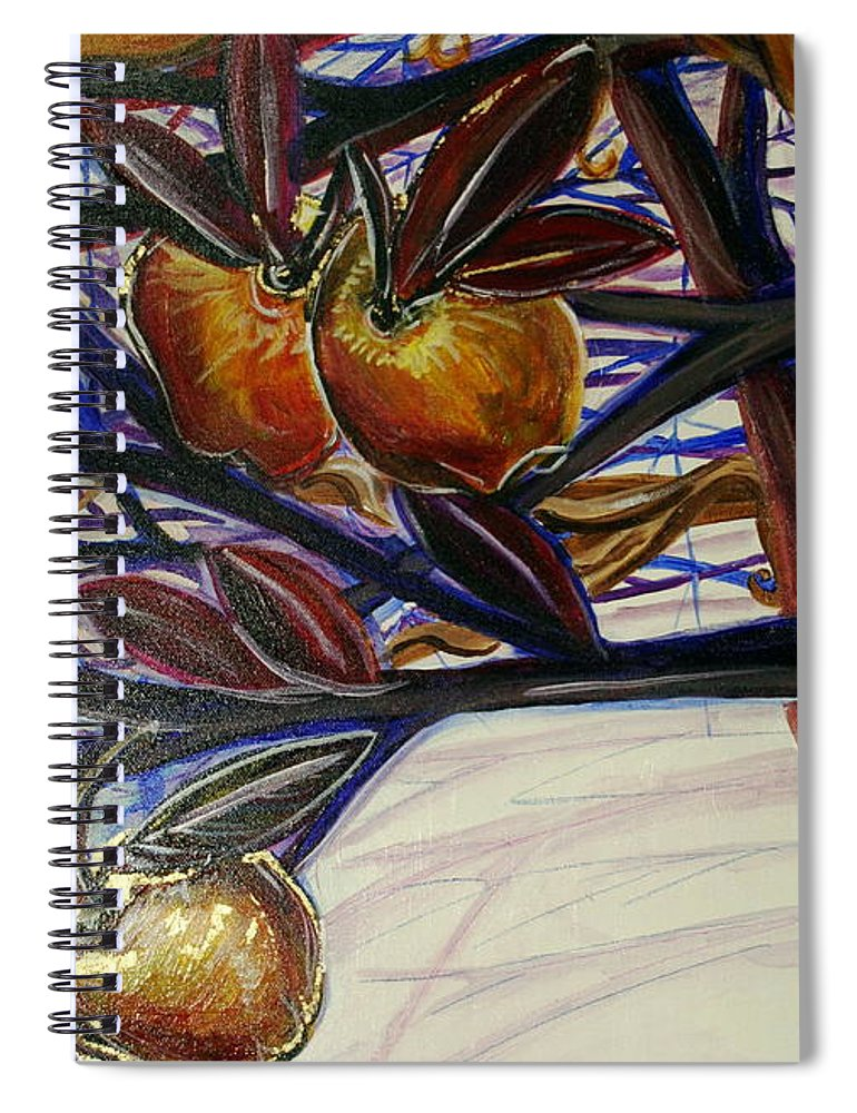 Tree Spiral Notebook featuring the painting Fifth World Two by Kate Fortin