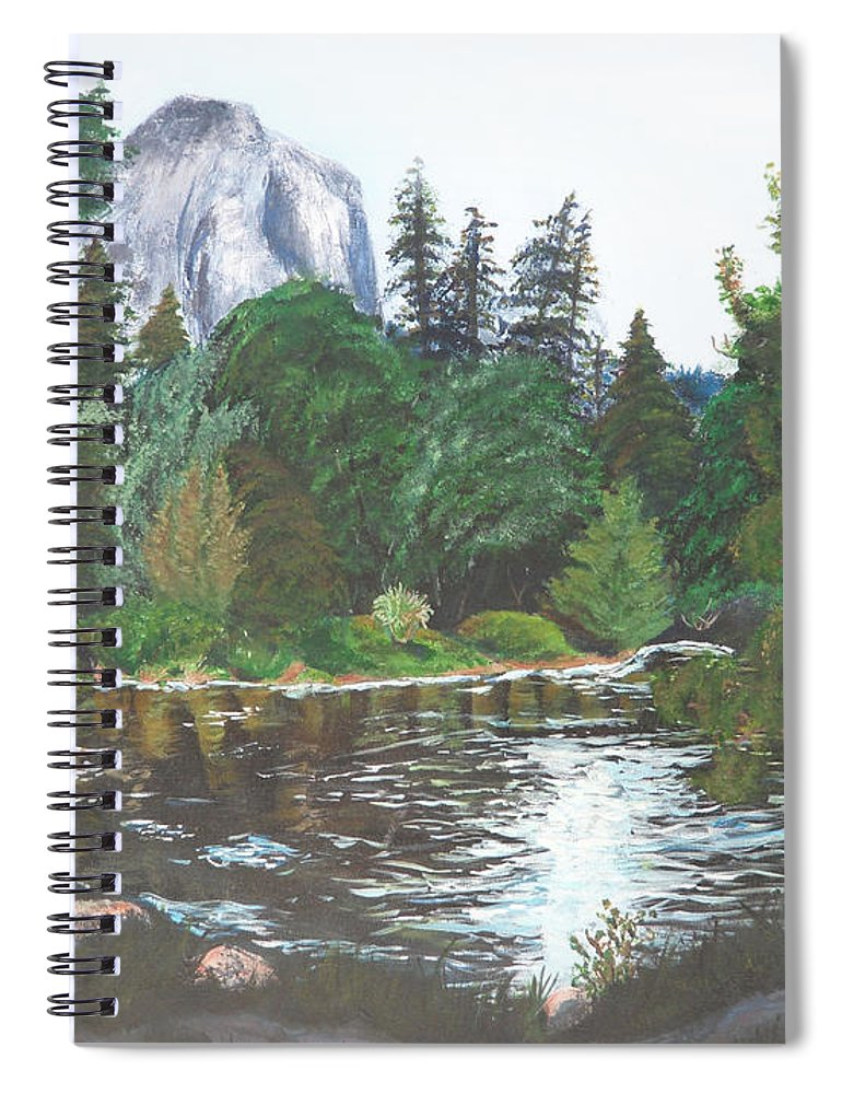 Yosemite Spiral Notebook featuring the painting Frog's Eye View by Travis Day