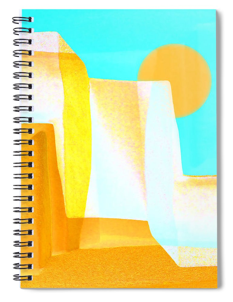 Golden Spiral Notebook featuring the photograph Golden Canyons by Carol Leigh