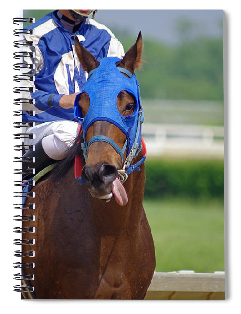 Thoroughbred Spiral Notebook featuring the photograph Ha Ha I Won by J M Lister