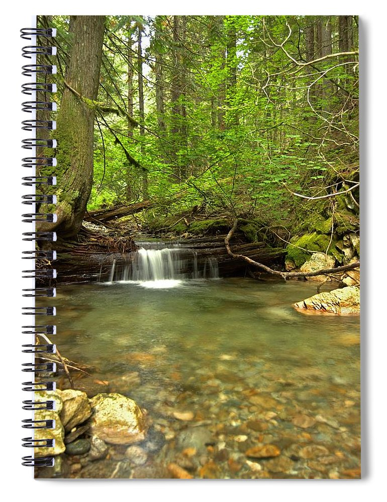 Landscape Spiral Notebook featuring the photograph Happy Trail Falls by Michael Peychich