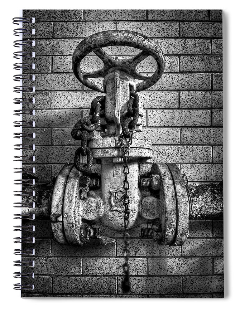 Metal Spiral Notebook featuring the photograph Hooked On Metal by Evelina Kremsdorf
