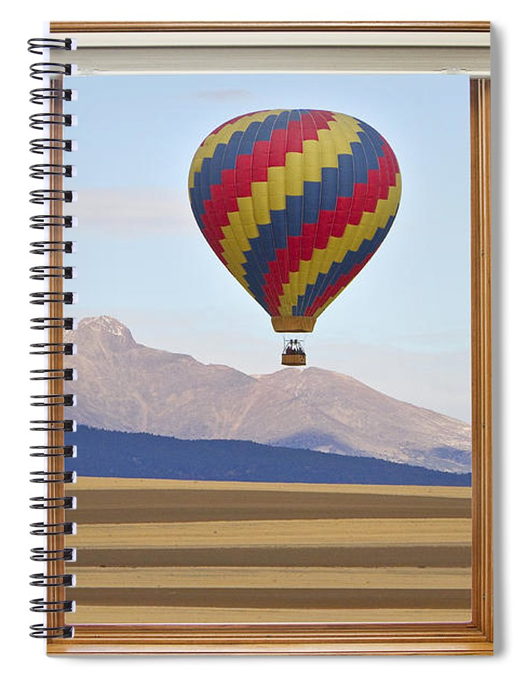 Hot Air Balloon Colorado Wood Picture Window Frame Photo Art Vie ...