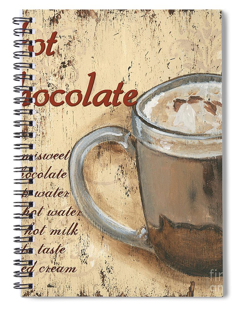 Hot Chocolate Spiral Notebook featuring the painting Hot Chocolate by Debbie DeWitt
