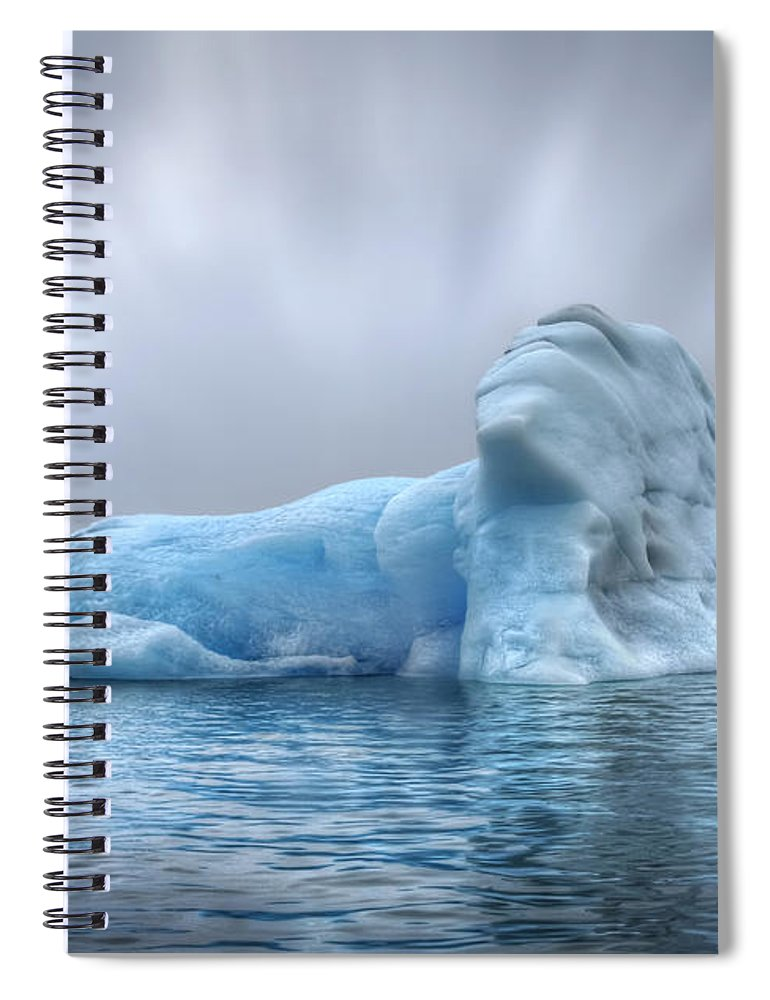 Iceland Spiral Notebook featuring the photograph Ice Magic by Evelina Kremsdorf