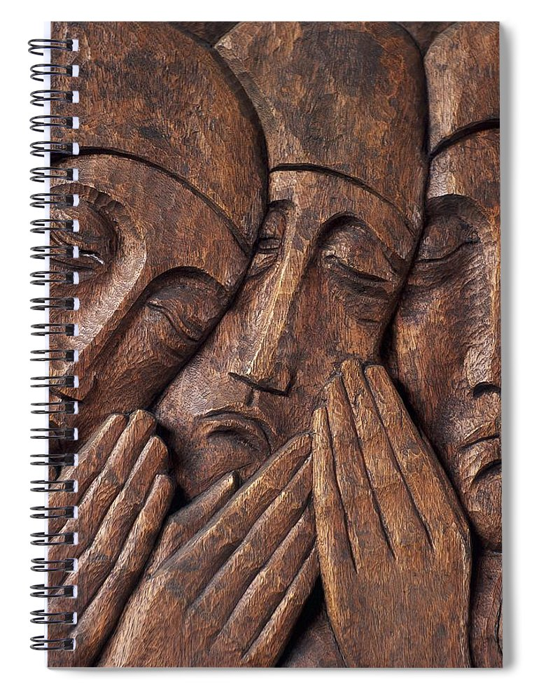 Close-up Spiral Notebook featuring the photograph Irish Jewish Museum, Portobello Dublin by The Irish Image Collection
