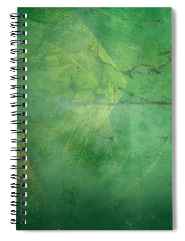 Ivy Spiral Notebook featuring the painting Ivy League by Christopher Gaston