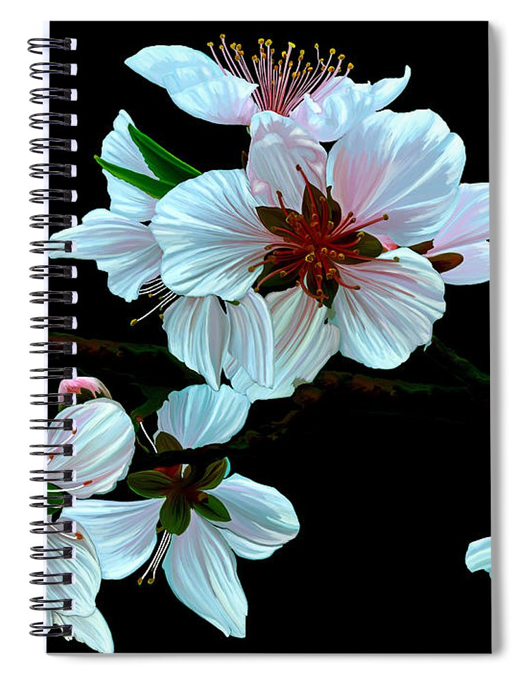 Fine Art Spiral Notebook featuring the painting Just Peachy by Patricia Griffin Brett