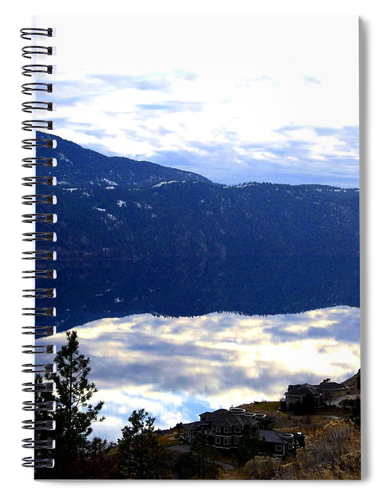 Lakeside Spiral Notebook featuring the photograph Lakeside Living by Will Borden