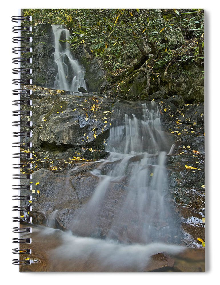 Laurel Falls Spiral Notebook featuring the photograph Laurel Falls 6239 8 by Michael Peychich