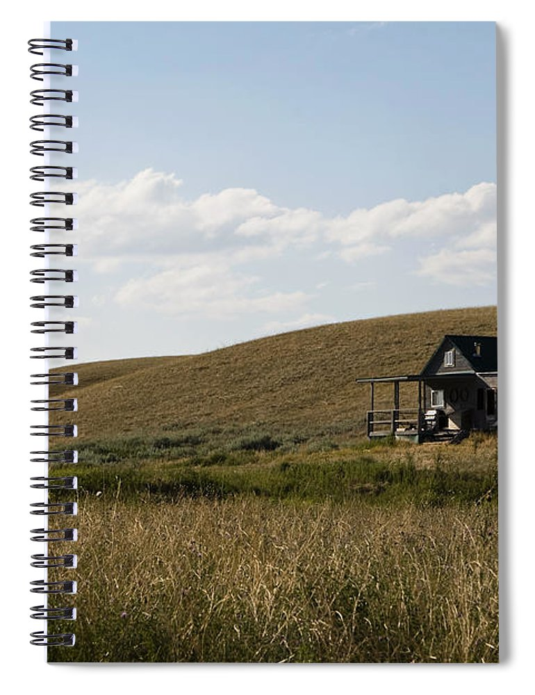 Farmhouse Spiral Notebook featuring the photograph Little House On The Plains by Lorraine Devon Wilke