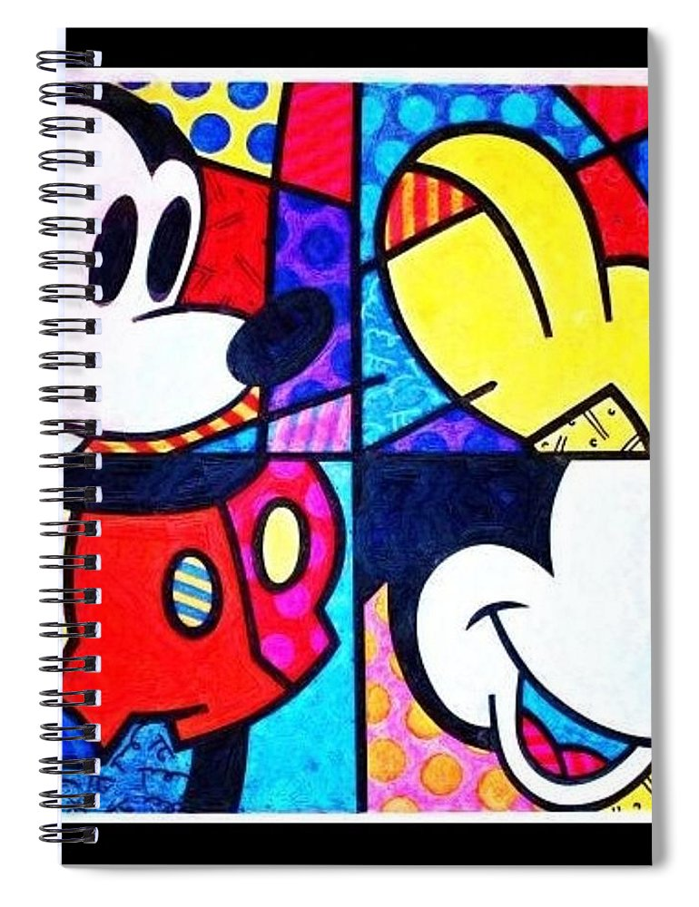 Mickey Mouse Spiral Notebook featuring the photograph Mickey Colors by Rob Hans