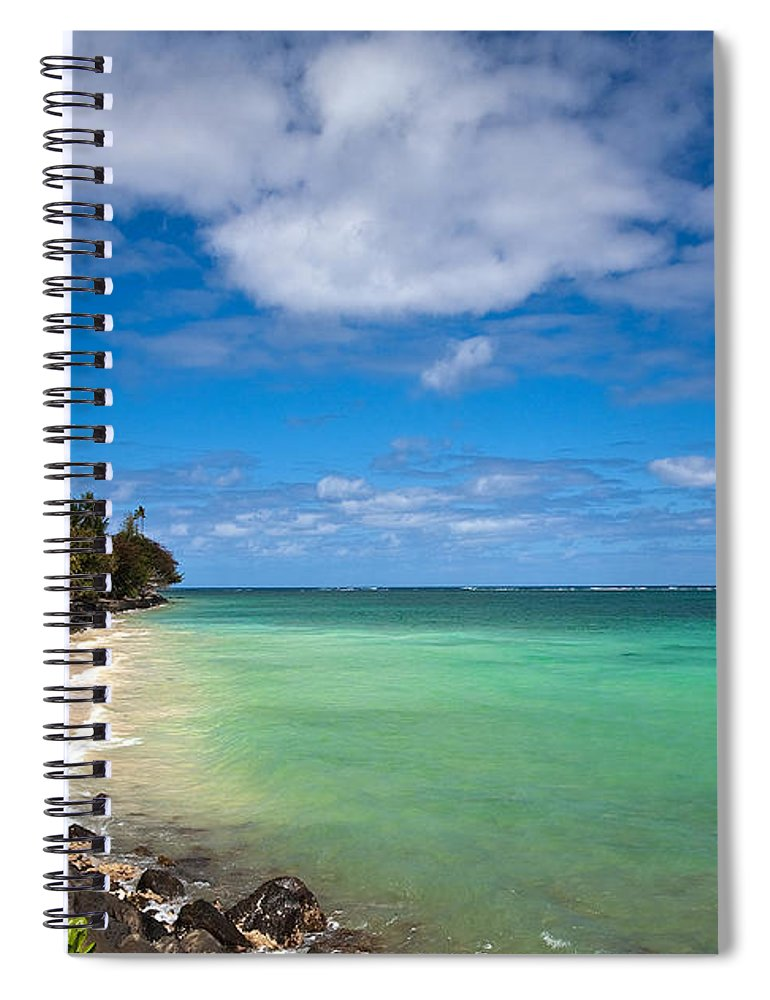 Oahu Spiral Notebook featuring the photograph Oahu Solace by Mike Reid