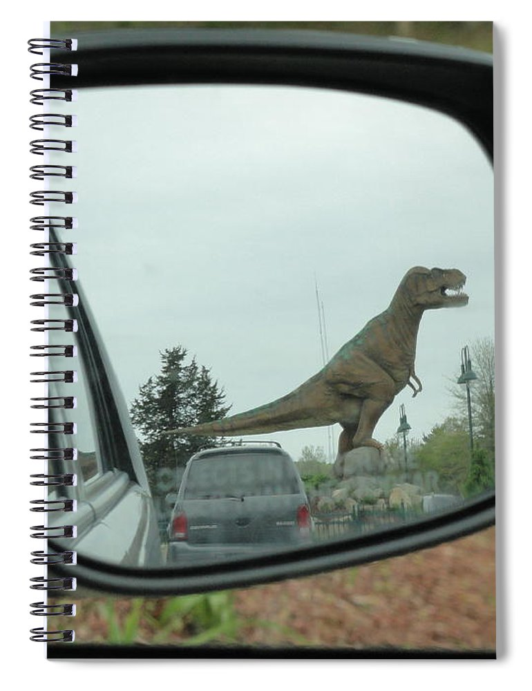 Objects In Mirror May Be Closer Than >> Objects In Mirror May Be Closer Than They Appear Spiral Notebook For