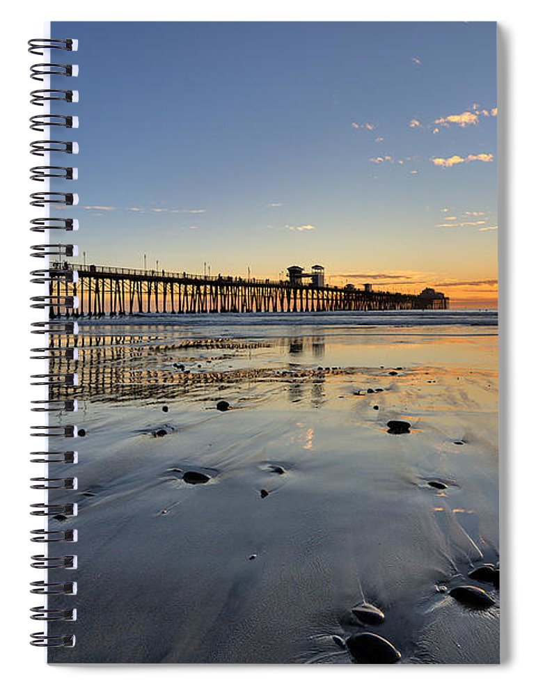 California Spiral Notebook featuring the photograph Oceanside Pier by Peter Tellone