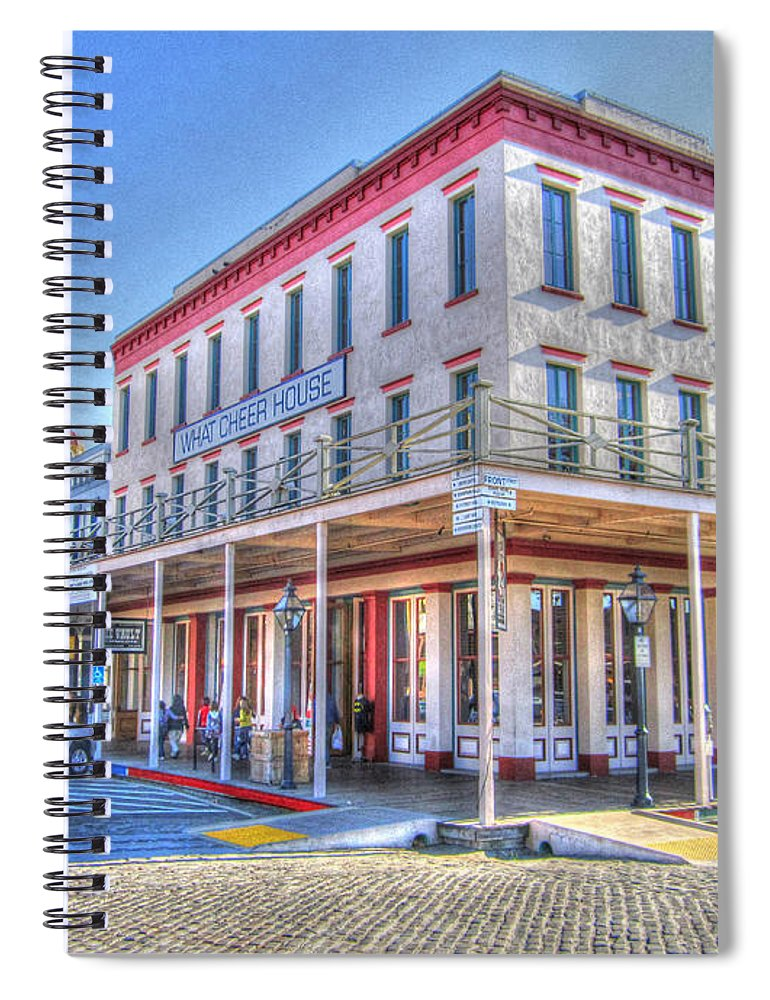 Street Corner Spiral Notebook featuring the photograph Old Towne Sacramento by Barry Jones