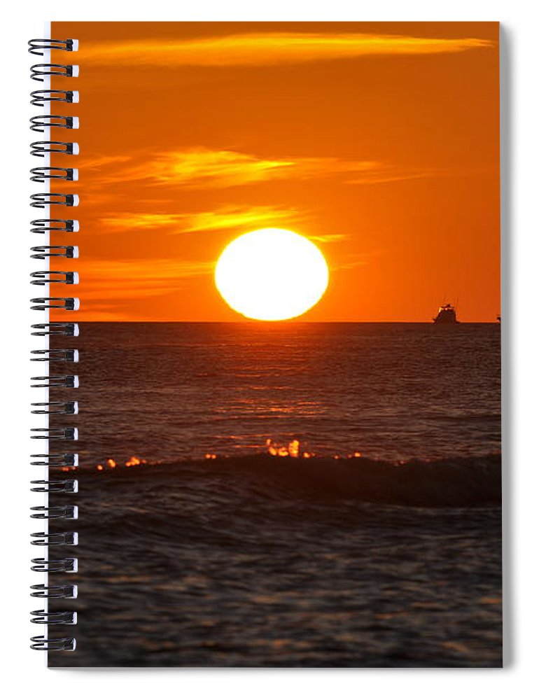 Sunset Spiral Notebook featuring the photograph Orange Sunset I by Christine Stonebridge