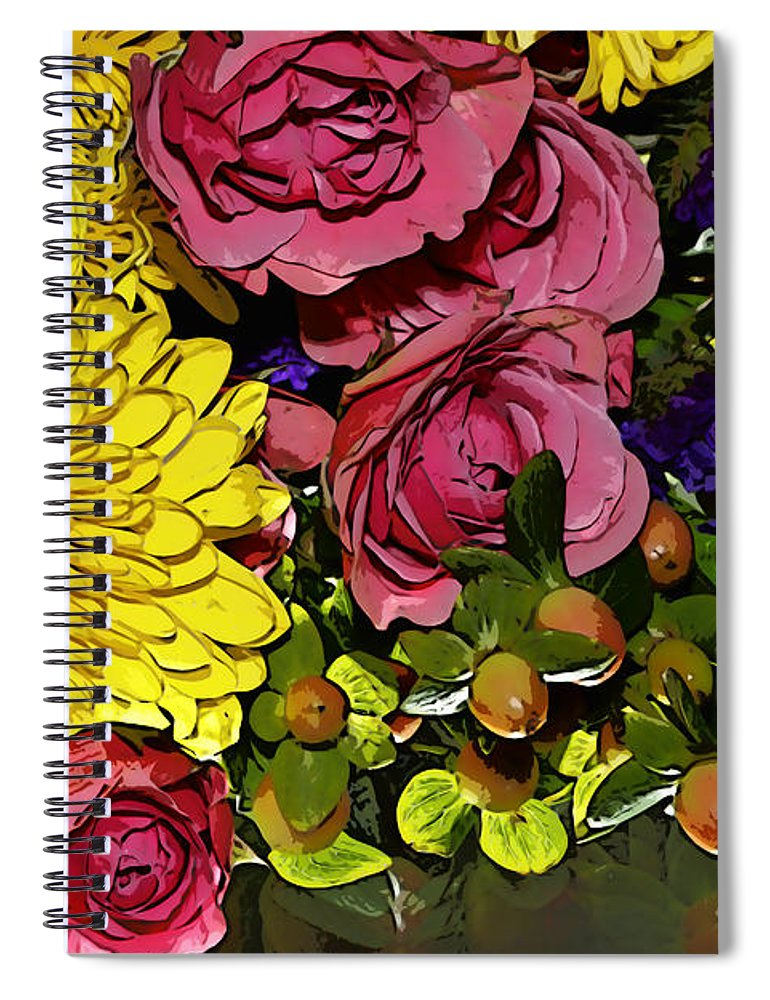 Flowers Spiral Notebook featuring the photograph Painted Bouquet by Phyllis Denton