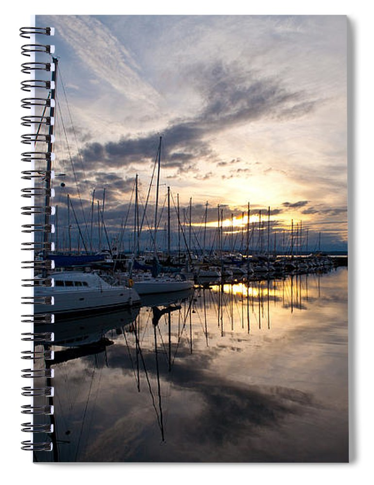 Shilshole Spiral Notebook featuring the photograph Peaceful Water by Mike Reid
