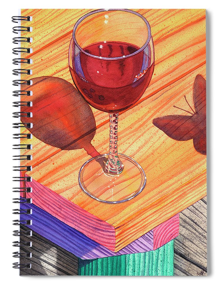 Wine Spiral Notebook featuring the painting Pinot Noir by Catherine G McElroy