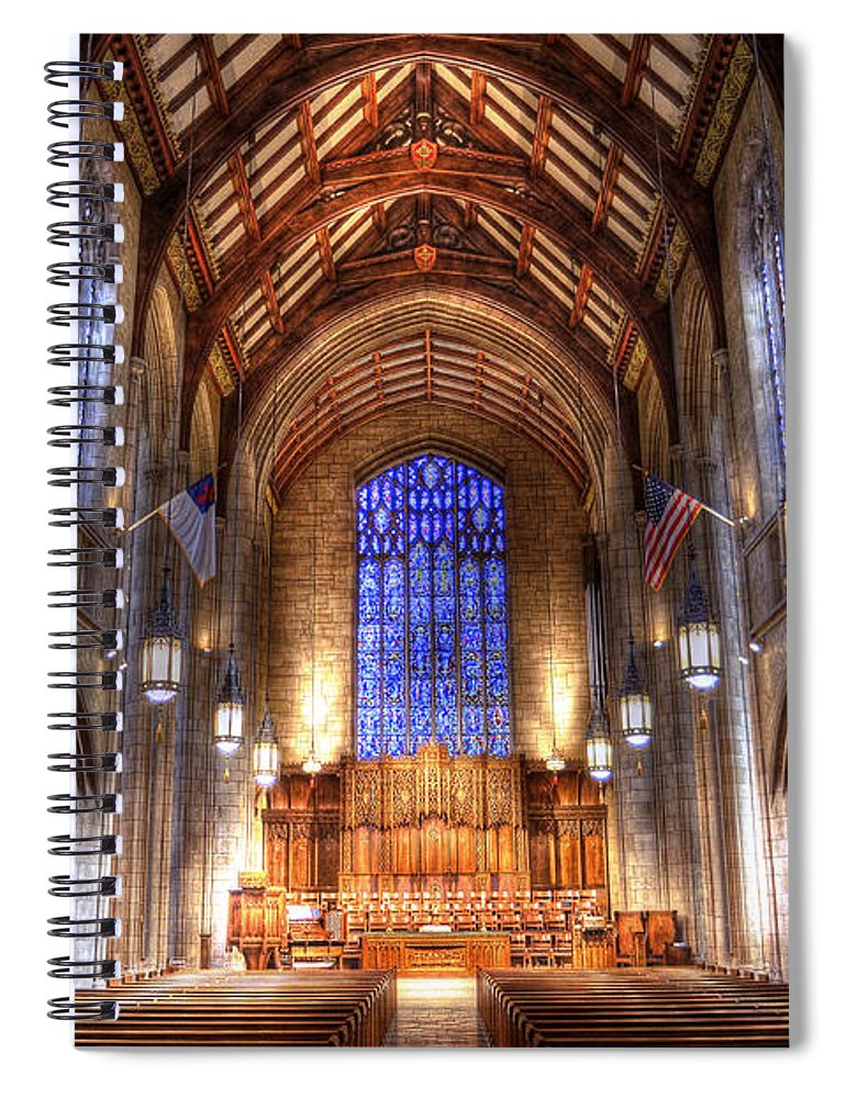 Hdr Spiral Notebook featuring the photograph Place of Prayer by Brian Fisher