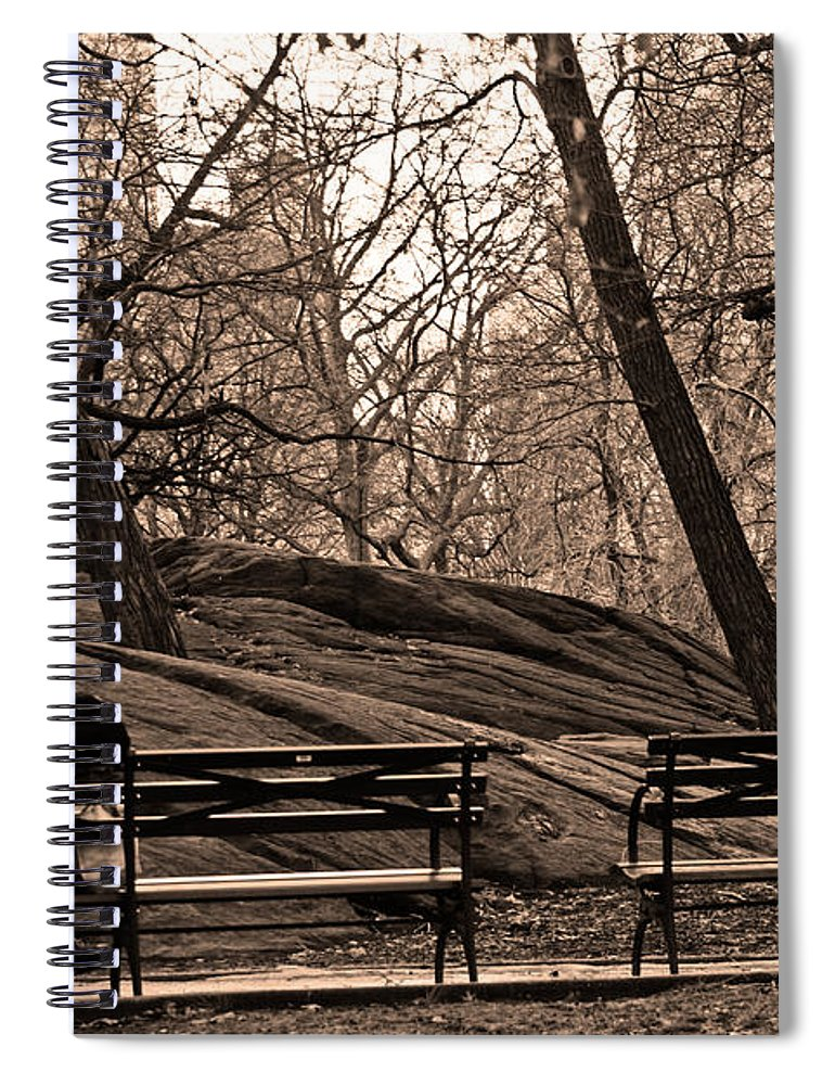 Park Spiral Notebook featuring the photograph Pondering In Sepia by La Dolce Vita