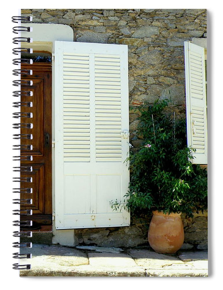 Doors And Windows Spiral Notebook featuring the photograph Provence Door Number 4 by Lainie Wrightson