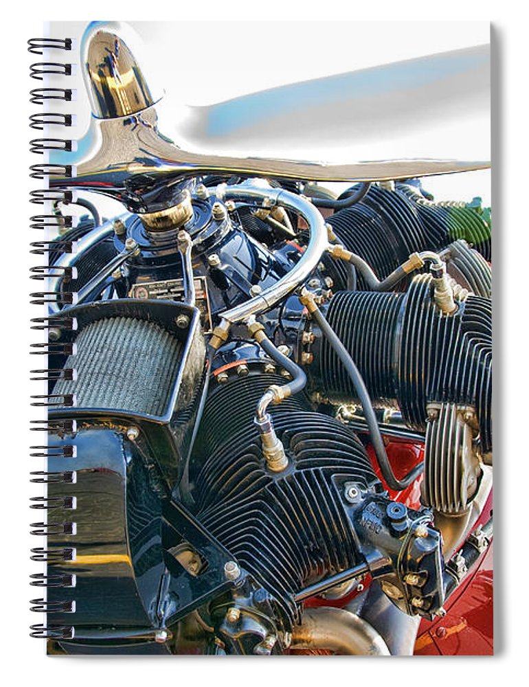 Airplane Spiral Notebook featuring the photograph Radial by Steven Richardson