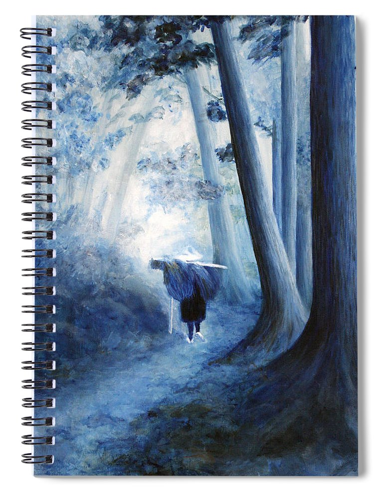 Trees Spiral Notebook featuring the painting Road Home by Donna Walsh