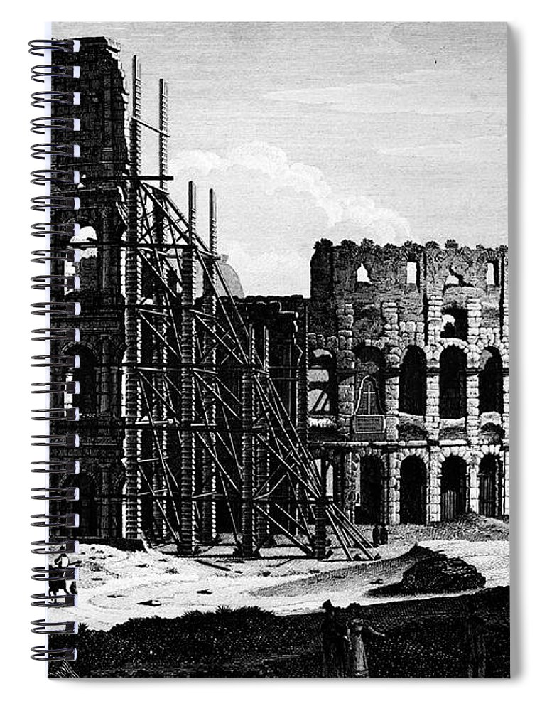 1864 Spiral Notebook featuring the photograph Rome: Colosseum, C1864 by Granger