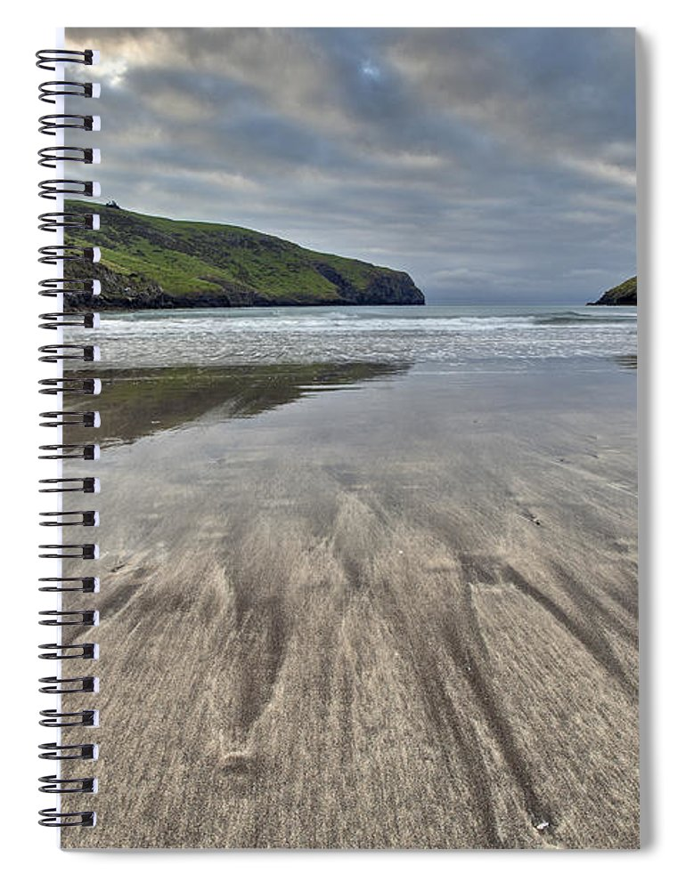 00479597 Spiral Notebook featuring the photograph Sand Patterns At Dawn Otanerito Beach by Colin Monteath
