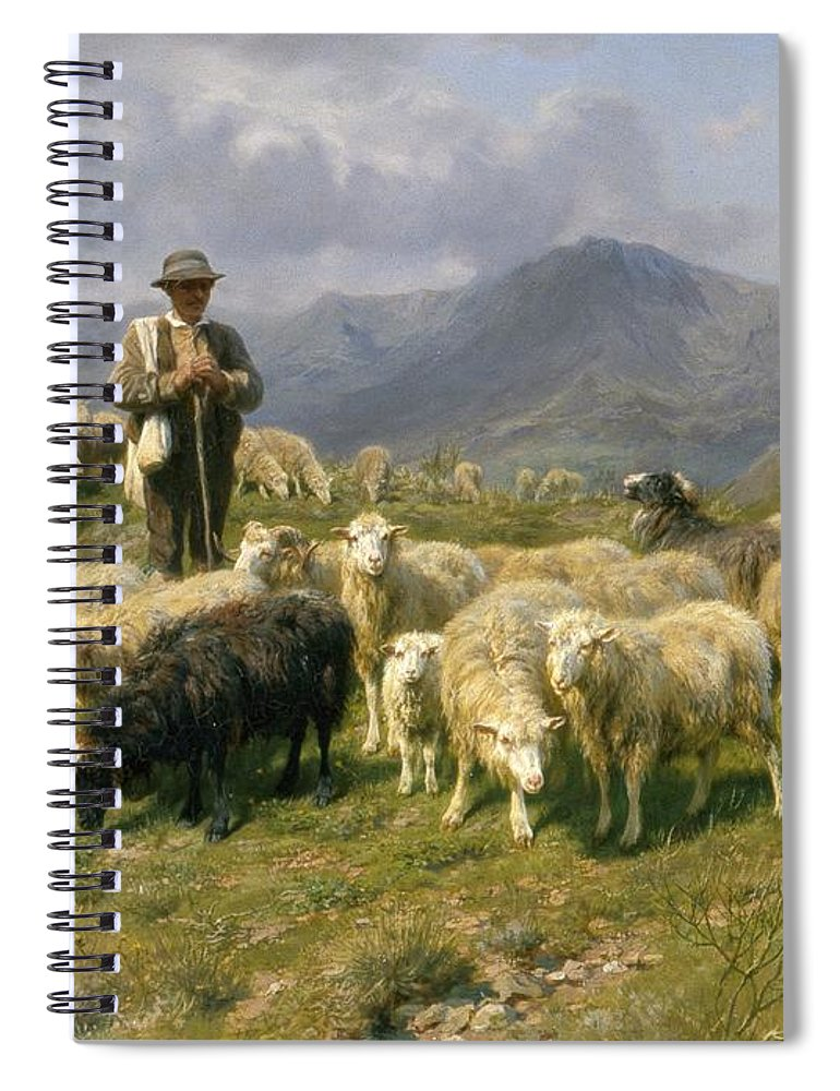 Shepherd Of The Pyrenees Spiral Notebook