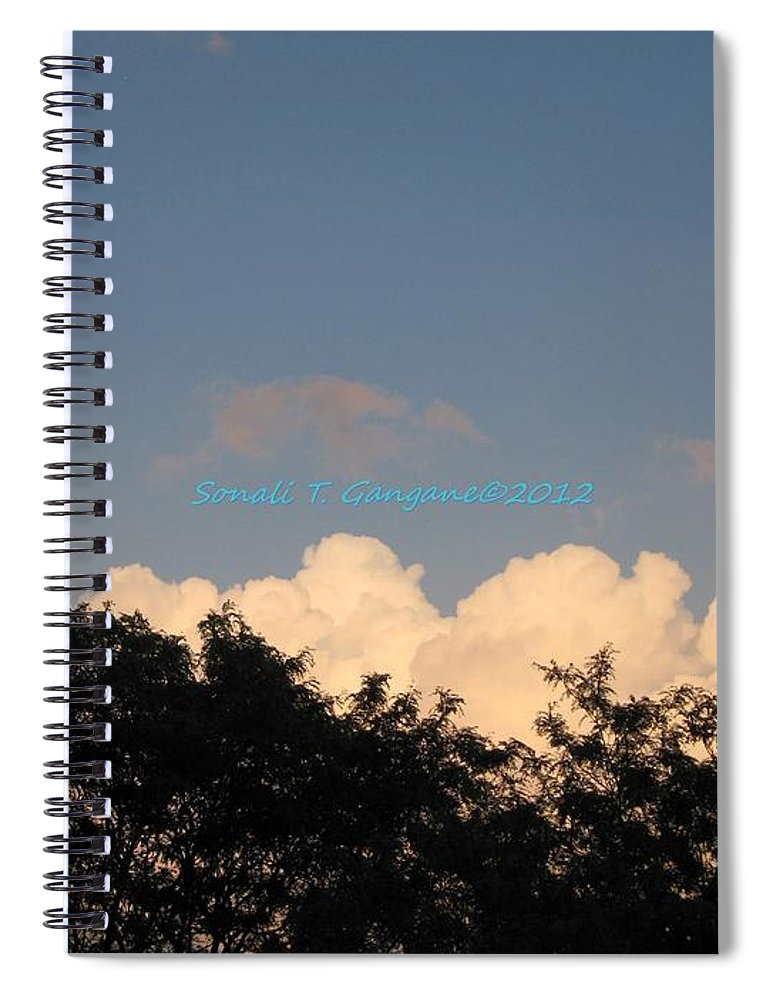 Silver Clouds Spiral Notebook featuring the photograph Silver Layer by Sonali Gangane