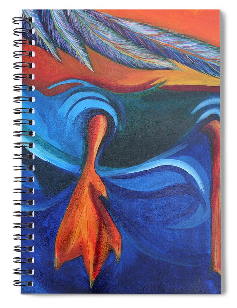 Spiral Notebook featuring the painting Sitting Duck by Kate Fortin