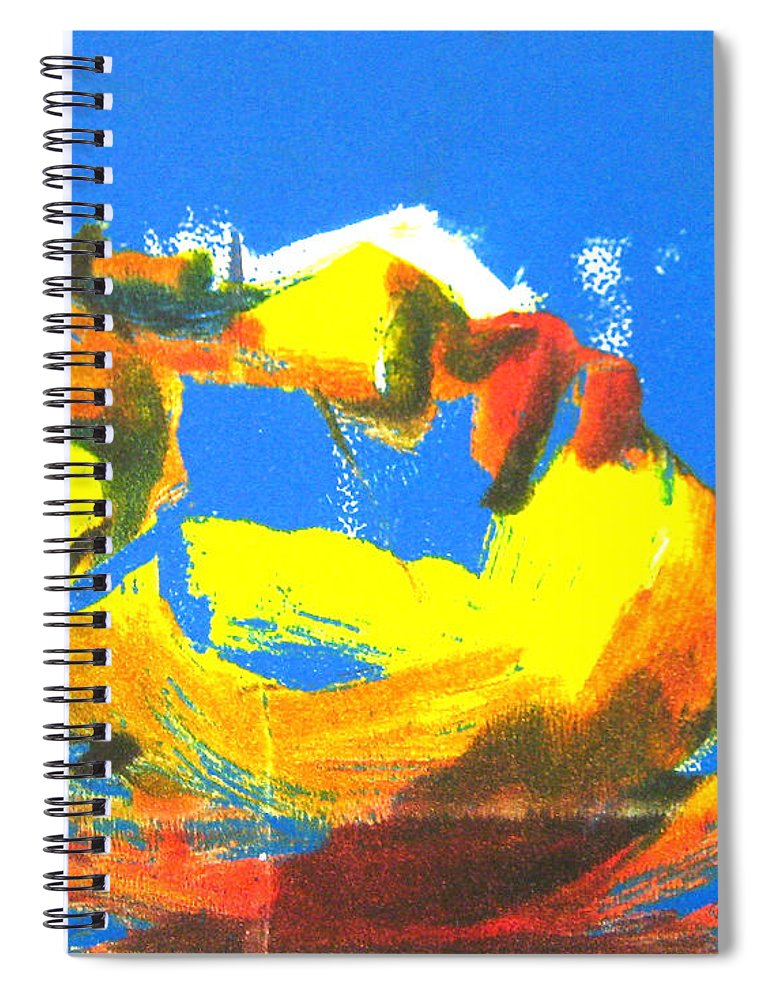 Figure Spiral Notebook featuring the painting Sleep by Gabrielle Wilson-Sealy