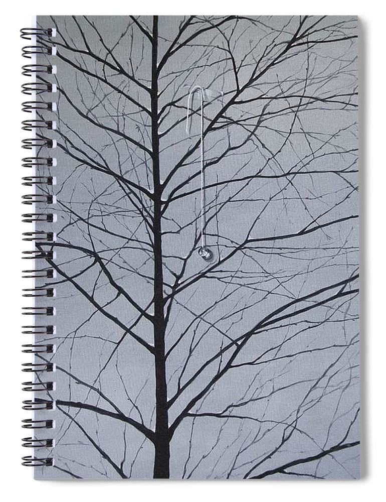 Winter Trees Spiral Notebook featuring the painting Sorrow by Roger Calle