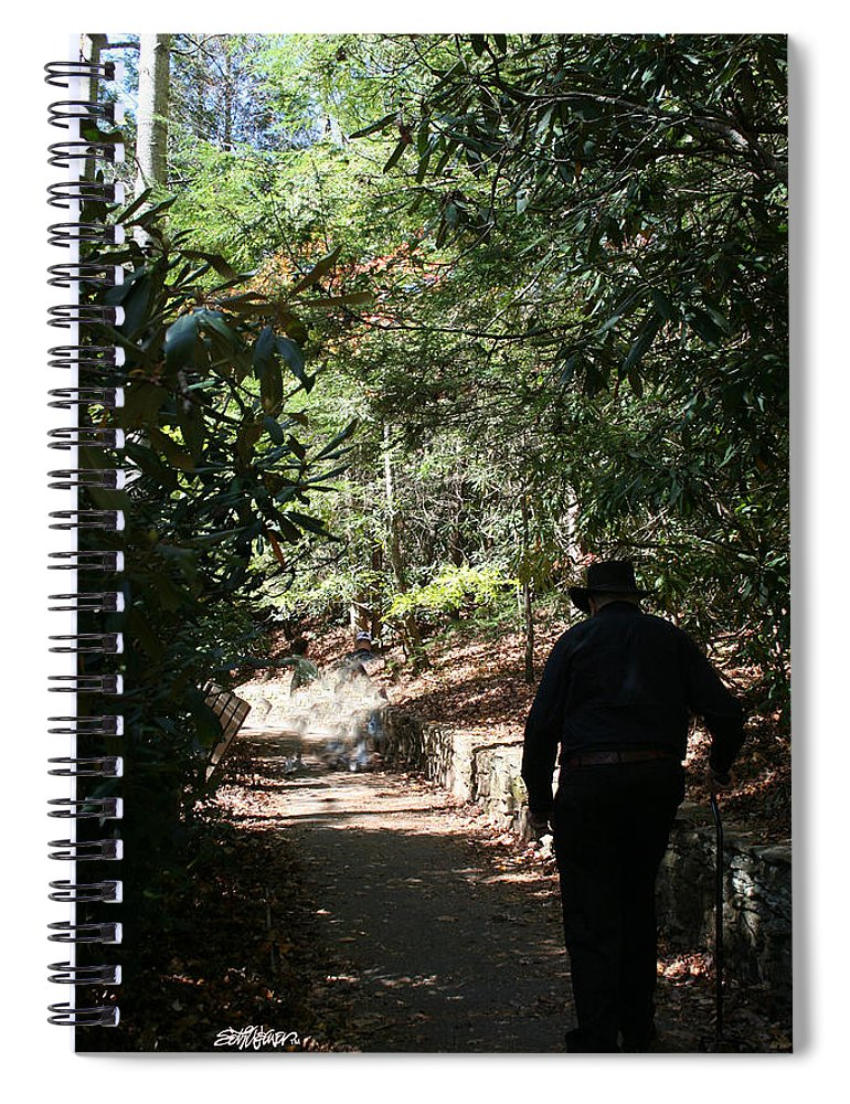 Stroll In The Shadows Spiral Notebook featuring the photograph Stroll in the Shadows by Seth Weaver