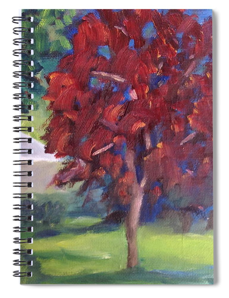 Landscape Spiral Notebook featuring the painting Suburban Landscape I by Patricia Cleasby