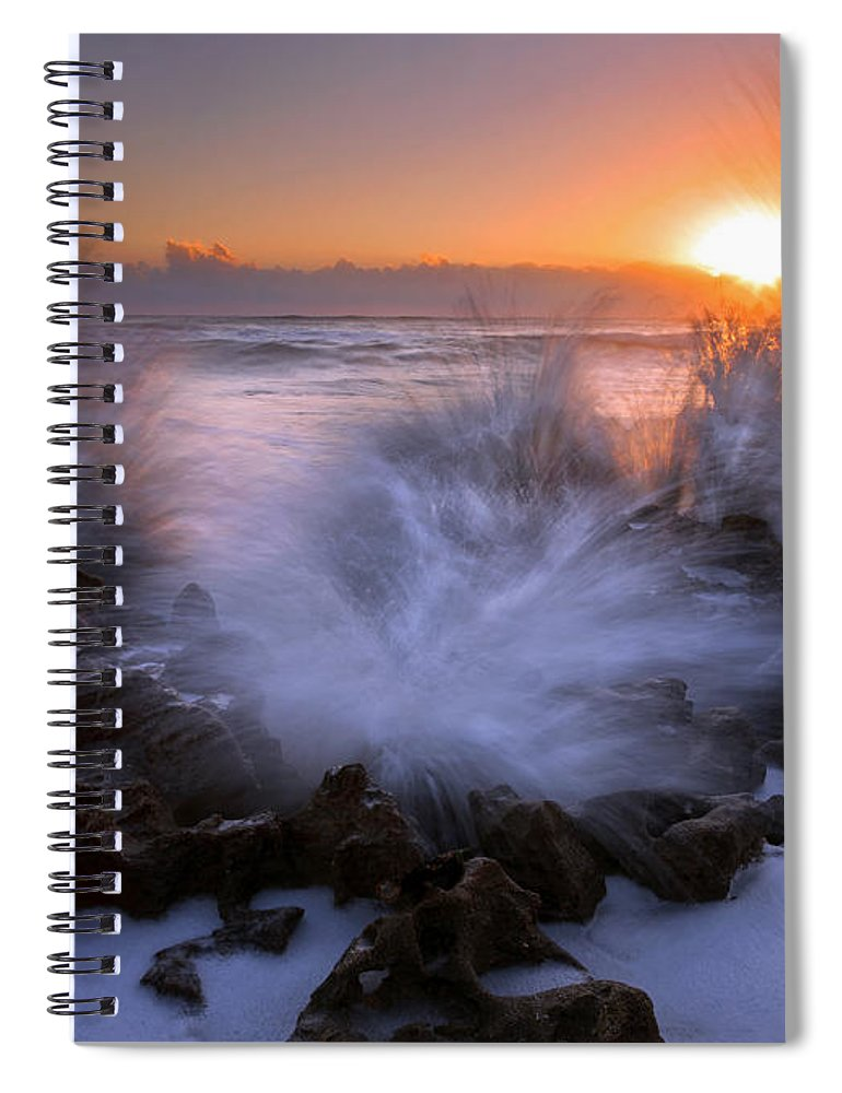 Coral Cove Spiral Notebook featuring the photograph Sunrise Explosion by Mike Dawson