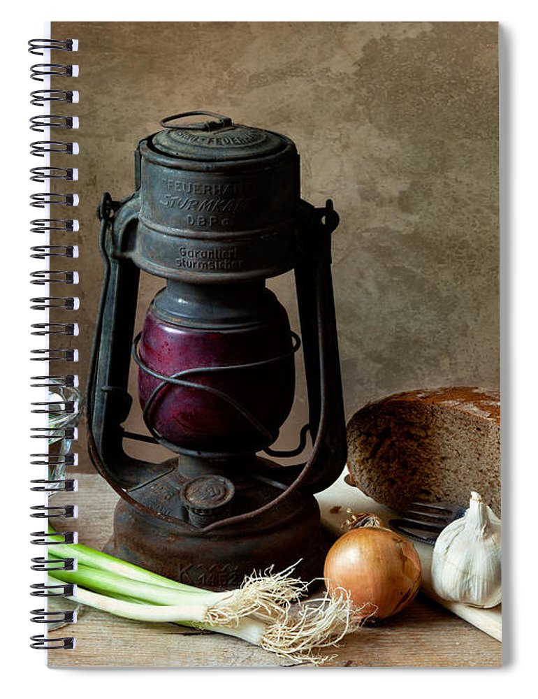 Still Spiral Notebook featuring the photograph Supper by Nailia Schwarz