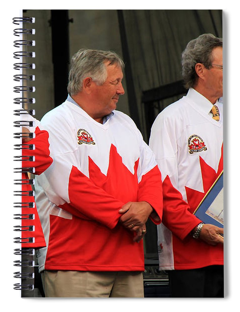 Team Canada Spiral Notebook featuring the photograph Team Canada 1 by Andrew Fare