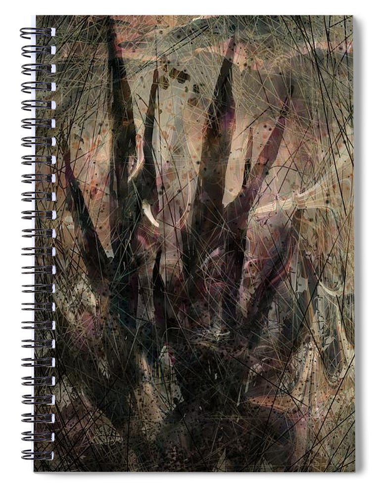 Landscape Spiral Notebook featuring the digital art Tequila Sunrise by William Russell Nowicki