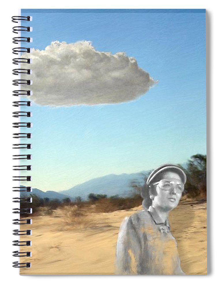Them Spiral Notebook featuring the digital art That Sound by Snake Jagger