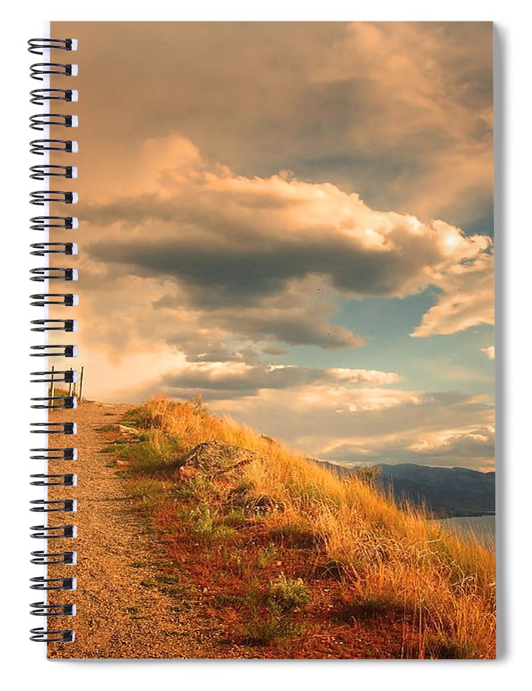Clouds Spiral Notebook featuring the photograph The Cloud Path by Tara Turner