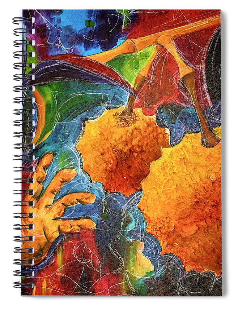 Durian Spiral Notebook featuring the painting The Durian by Kate Fortin