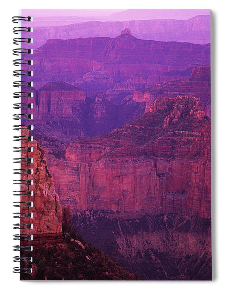 Grand Canyon Spiral Notebook featuring the photograph The Grand Canyon North Rim by Bob Christopher