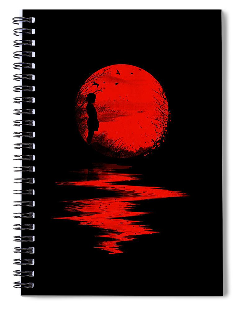 Art Spiral Notebook featuring the digital art The Land of the Rising Sun by Nicebleed