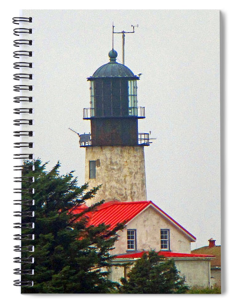 Cape Flattery Spiral Notebook featuring the photograph The Lighthouse Of Tatoosh by Tikvah's Hope